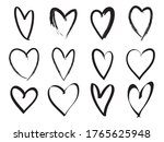 doodle love hearts collection.... | Shutterstock .eps vector #1765625948