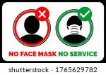 no face mask no service ... | Shutterstock .eps vector #1765629782