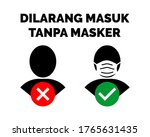 dont enter without mask written ...   Shutterstock .eps vector #1765631435