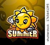 Sun Mascot Esport Logo Design