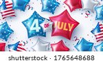4th of july party poster or... | Shutterstock .eps vector #1765648688