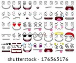 cartoon set of thirty five... | Shutterstock .eps vector #176565176