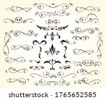 set of decorative elements for... | Shutterstock .eps vector #1765652585