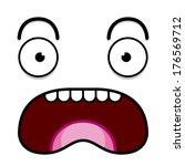 vector cute cartoon white... | Shutterstock .eps vector #176569712