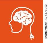 think design over orange... | Shutterstock .eps vector #176571212