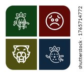 Angry Icon Set. Collection Of...