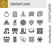 Set Of Snowflake Icons. Such A...