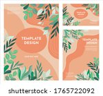 contemporary floral template...   Shutterstock .eps vector #1765722092