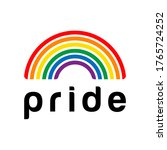 rainbow pride symbol  lgbt ... | Shutterstock .eps vector #1765724252