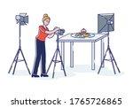 professional photographer... | Shutterstock .eps vector #1765726865
