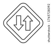 two way traffic thin line icon  ... | Shutterstock .eps vector #1765728392