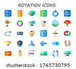 Rotation Icon Set. 30 Flat...