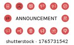 announcement icon set.... | Shutterstock .eps vector #1765731542