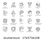 premium icons pack on human... | Shutterstock .eps vector #1765736108