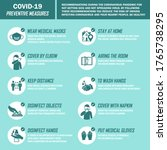coronavirus infographic... | Shutterstock .eps vector #1765738295