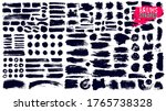 big collection of black paint ... | Shutterstock .eps vector #1765738328