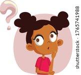 little girl having many... | Shutterstock .eps vector #1765741988