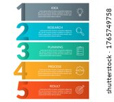 5 steps info graphic with... | Shutterstock .eps vector #1765749758