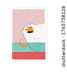 abstract woman portrait  vector.... | Shutterstock .eps vector #1765758128