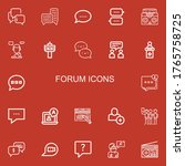 editable 22 forum icons for web ... | Shutterstock .eps vector #1765758725