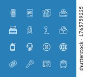 editable 16 record icons for... | Shutterstock .eps vector #1765759235