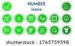 editable 14 number icons for... | Shutterstock .eps vector #1765759598