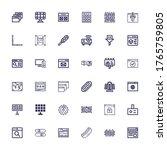 editable 36 panel icons for web ... | Shutterstock .eps vector #1765759805