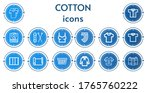 editable 14 cotton icons for... | Shutterstock .eps vector #1765760222