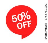 red tag special offer 50  off... | Shutterstock .eps vector #1765762622