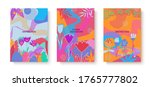 colorful set of abstract cards... | Shutterstock .eps vector #1765777802