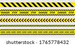 set of danger caution seamless... | Shutterstock .eps vector #1765778432