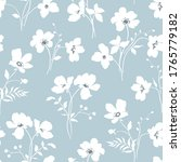 floral seamless pattern with... | Shutterstock .eps vector #1765779182