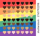 hearts with racial color on...