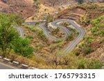 Winding Road In Semien  Simien...