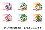 summer sale  up to 70  off ... | Shutterstock .eps vector #1765821755