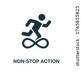 Non Stop Action Icon. Simple...
