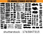 large set different grunge...   Shutterstock .eps vector #1765847315