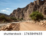 Gravel Road And Landscape In...