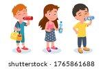 preschooler girl   boys... | Shutterstock .eps vector #1765861688