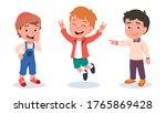 autumn   spring kids outdoors...   Shutterstock .eps vector #1765869428