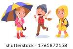 autumn   spring kids casual... | Shutterstock .eps vector #1765872158