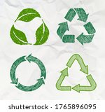 set of sketch doodle recycle... | Shutterstock .eps vector #1765896095