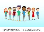 group portrait of funny smiling ... | Shutterstock .eps vector #1765898192