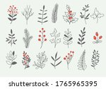 holly berry branch and winter...   Shutterstock .eps vector #1765965395