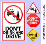 do not drink and drive | Shutterstock .eps vector #176596682