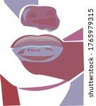 fashion sensual lips geometry... | Shutterstock .eps vector #1765979315