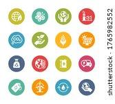 ecology and renewable energy...   Shutterstock .eps vector #1765982552