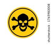 danger sign with skull symbol.... | Shutterstock .eps vector #1765983008