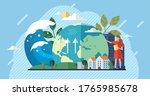 change climate concept. vector... | Shutterstock .eps vector #1765985678