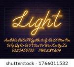 neon yellow script font.... | Shutterstock .eps vector #1766011532